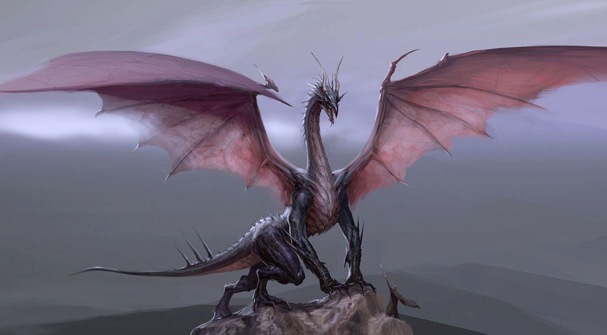 Драконы оттолкнувшись могучей лапой
